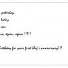 FOLLETT COMPIE 1 ANNO…….AUGURI!!!!
